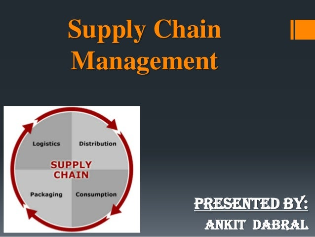 Supply Chain Management PRESENTED BY: ANKIT DABRAL