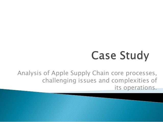 supply chain management case study Toba, tomasini and yang supply chain management in hospital: a case study california journal of operations management, volume 6, number 1, february 2008.