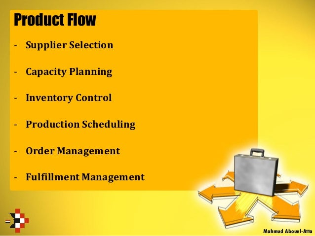Product Flow - Supplier Selection - Capacity Planning - Inventory Control - Production Scheduling - Order Management - Ful...