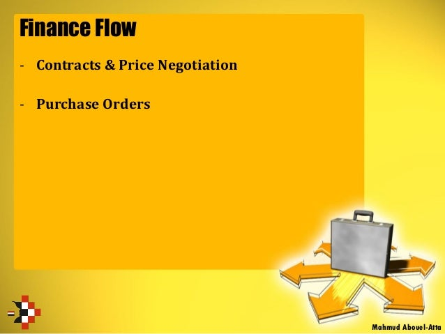 Finance Flow - Contracts & Price Negotiation - Purchase Orders Mahmud Abouel-Atta