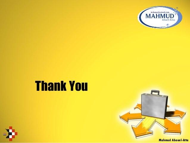 Thank You Mahmud Abouel-Atta
