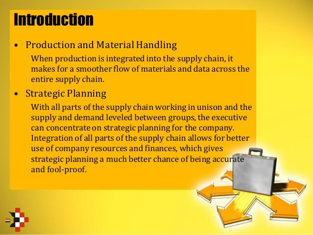 Introduction • Production and Material Handling When production is integrated into the supply chain, it makes for a smooth...