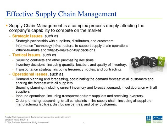 barriers to effective supply chain management Barriers to effective supply chain management from the literature in table ii from mba 1 at iim bangalore.