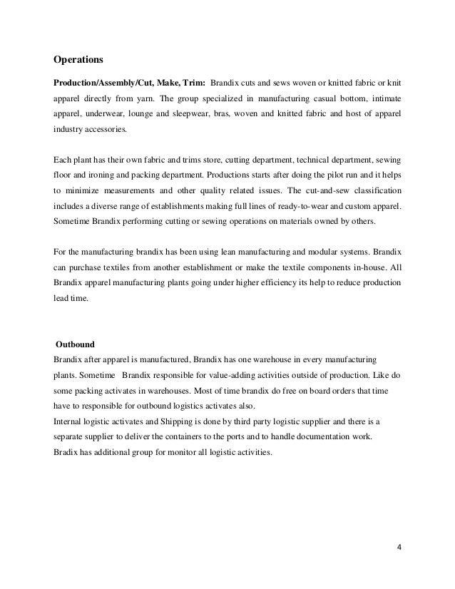 Supply chain management college essay