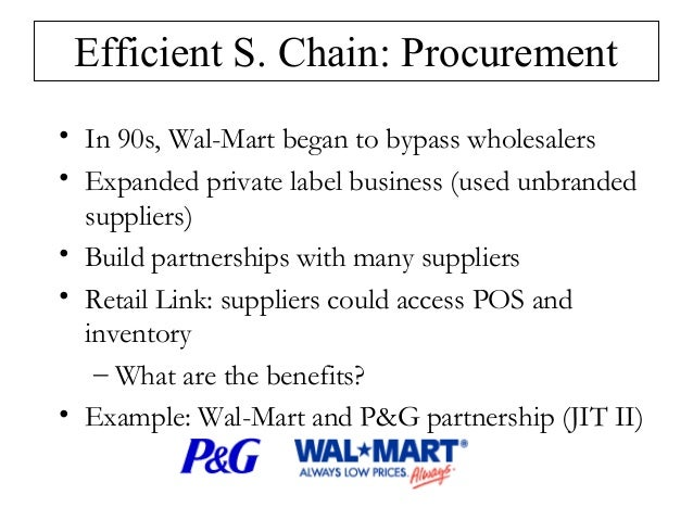 Wal-Mart Supply Chain.