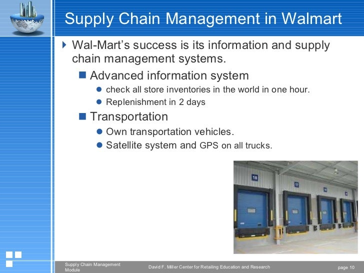 the supply chain management of walmart There's no better story for explaining the real value of mastering supply chain management than the story of kmart vs wal-mart.