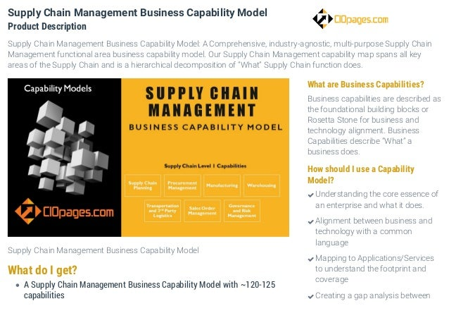 supply chain business capability model