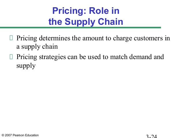 © 2007 Pearson Education Pricing: Role in the Supply Chain Pricing determines the amount to charge customers in a supply c...