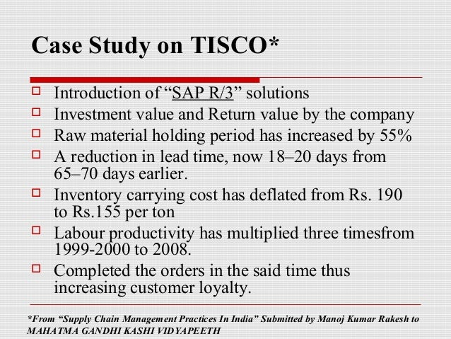 scm practices at tisco Environmental and economic implications of slag disposal practices by the ferrochromium  taiyuan iron & steel (tisco) baosteel   scm ultrafine mill.