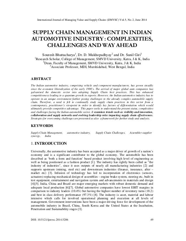 International Journal of Managing Value and Supply Chains (IJMVSC) Vol.5, No. 2, June 2014 DOI: 10.5121/ijmvsc.2014.5206 4...