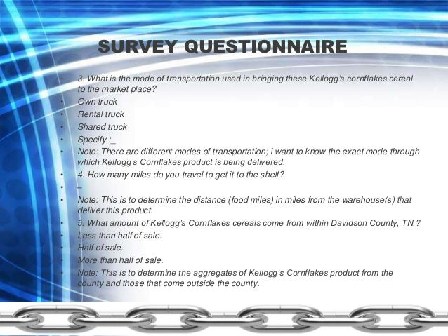 Supply Chain Management Questionnaire