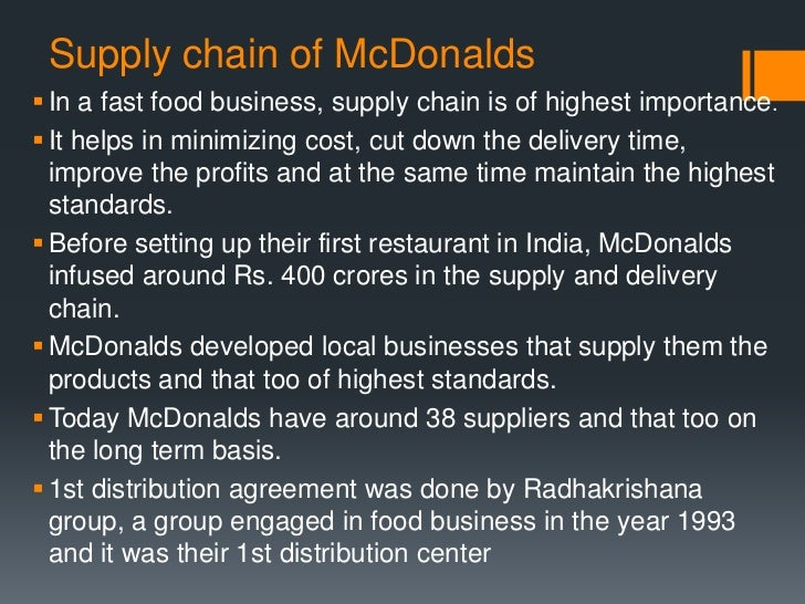 mcdonalds supply chain Blogs game of chains the traditional boundaries between sectors and industries are blurring, or even vanishing, due to the increasing digitalization of business globally.