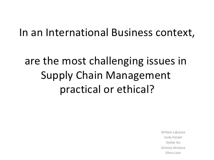 ethical issues in supply chain Code of practice - ethical employment in supply chains date: version: xx introduction this code of practice has been established by the welsh government to support the development of more ethical supply chains involved in delivering contracts for the welsh public sector and third sector organisations in receipt of public funds.