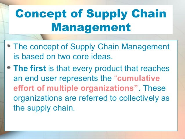 the philosophy of supply chain management Lean supply chain management can help to give your company a competitive advantage.