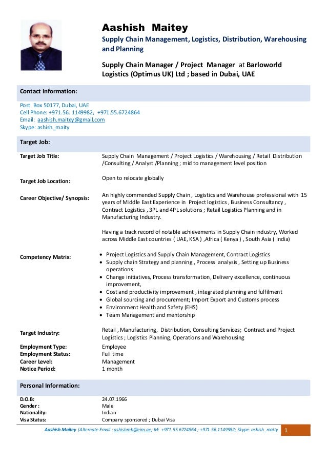 Supply chain Manager / Consultant with 19 years experience