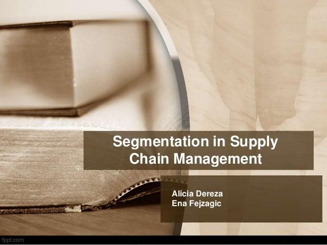 Segmentation in Supply Chain Management Alicia Dereza Ena Fejzagic