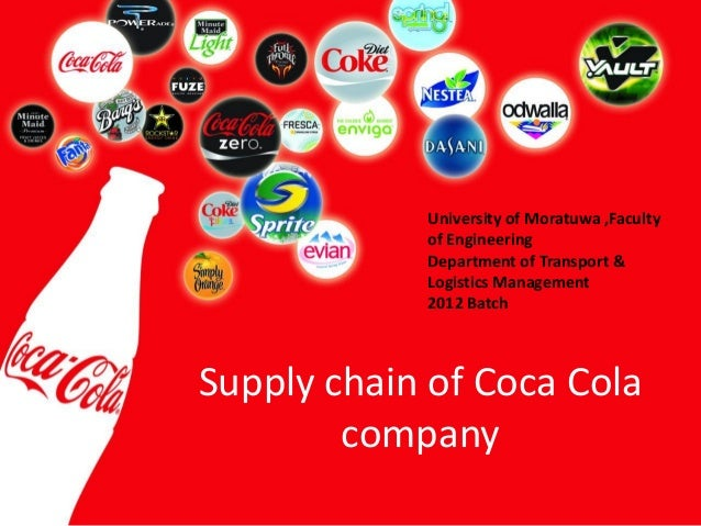 Supply chain of Coca Cola company University of Moratuwa ,Faculty of Engineering Department of Transport & Logistics Manag...