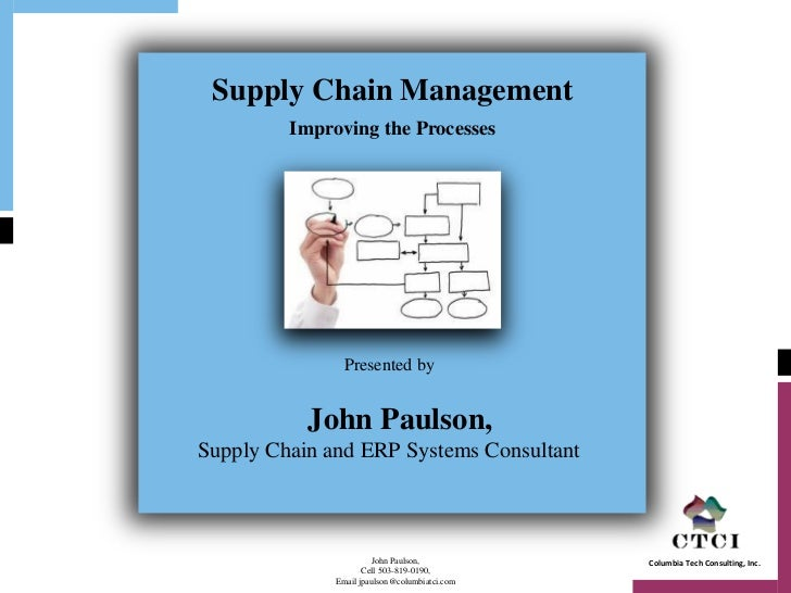 Supply Chain Management         Improving the Processes                Presented by           John Paulson,Supply Chain an...