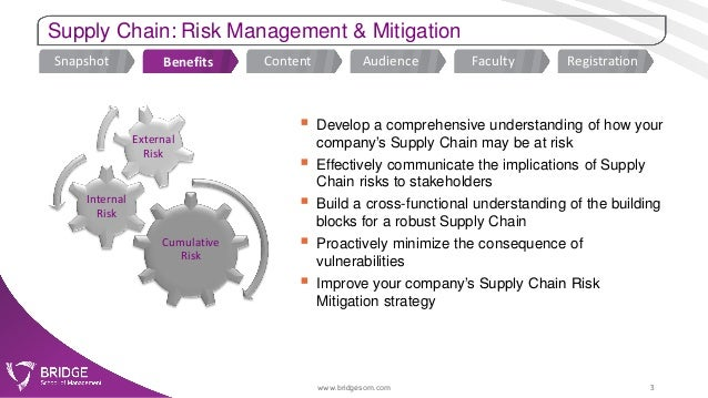 mitigating risk of supply chain management Companies that fail to work with their vendors, suppliers and contractors (supply  chain) to identify, detect, monitor and mitigate their safety and health issues, risk.