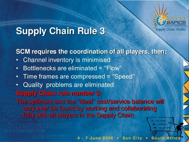 Supply chain rules