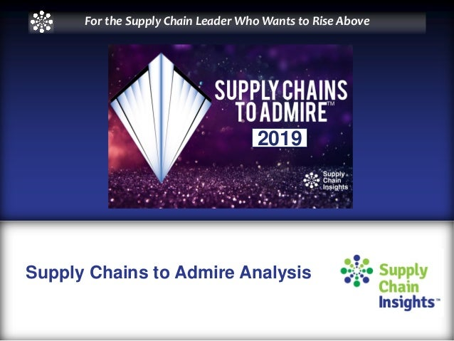 Supply Chains to Admire Analysis