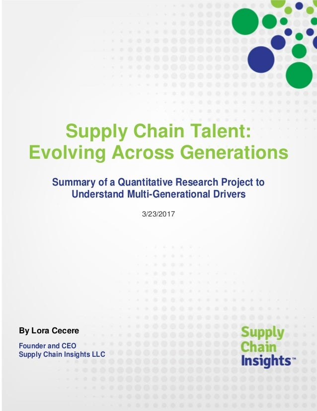 Supply Chain Talent-Evolving Across Generations - 22 MAR 2017_final