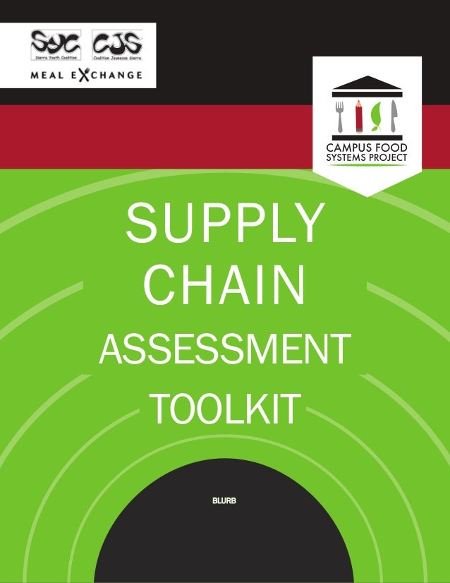 SUPPLY CHAIN ASSESSMENT TOOLKIT BLURB