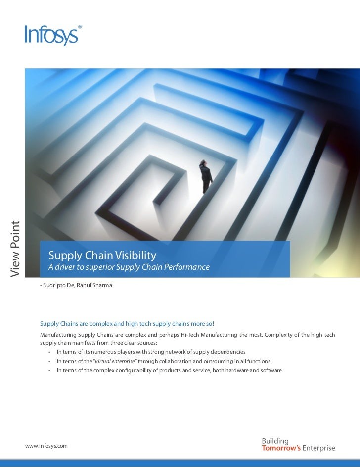 View Point                     Supply Chain Visibility                     A driver to superior Supply Chain Performance  ...