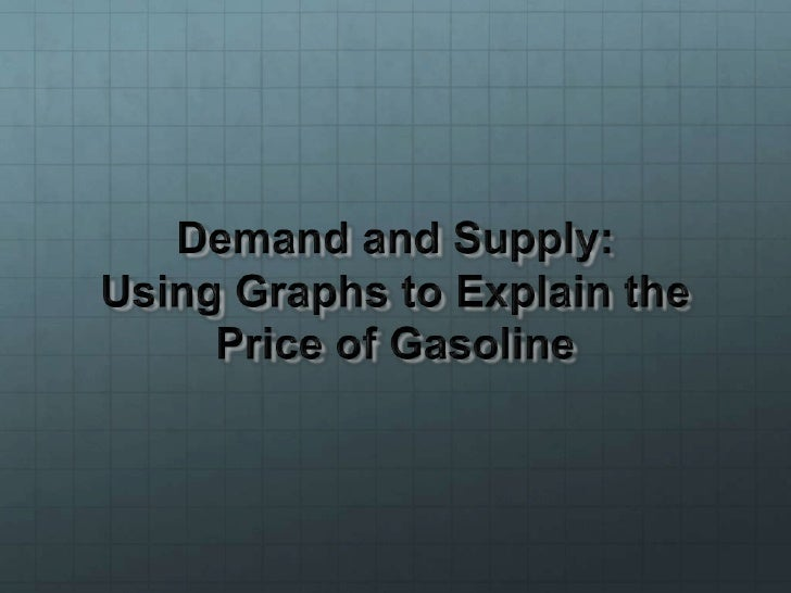 Demand and Supply: Using Graphs to Explain the Price of Gasoline<br />