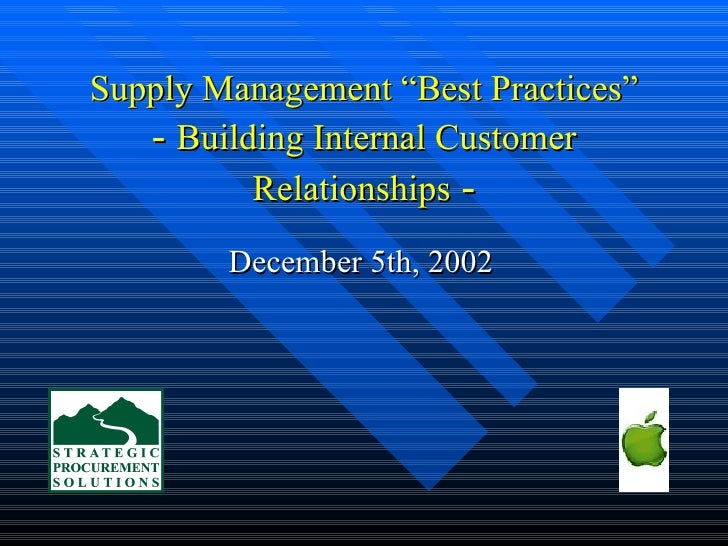 supplier relationship management best practice ppt airport