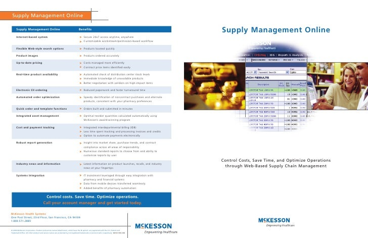 Supply Management Online     Control Costs, Save Time, and Optimize Operations  through Web-Based Supply Chain Management