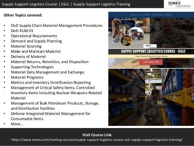 Supply Support Logistics Course & Training - SSLC Tonex Training