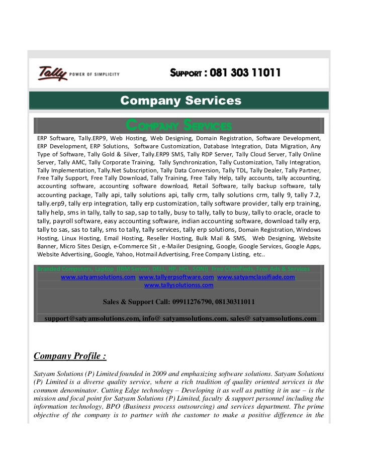 Support : 081 303 11011                                 Company Services                                   Company Service...