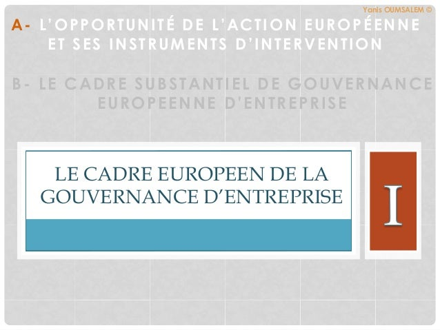 European corporate governance la gouvernement d for Chambre de commerce europeenne