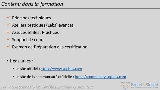 Support formation vidéo : Préparez votre certification Sophos UTM v9 …