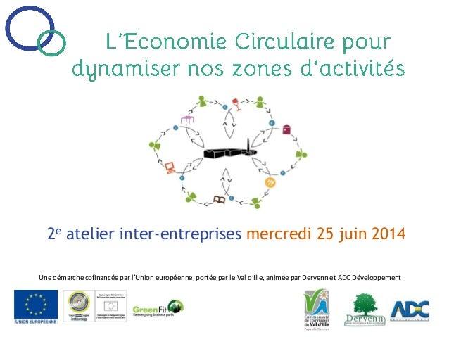 2e atelier inter-entreprises mercredi 25 juin 2014 Une démarche cofinancée par l'Union européenne, portée par le Val d'Ill...