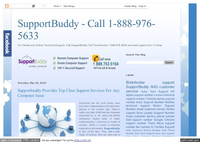 SupportBuddy - Call 1-888-976-5633