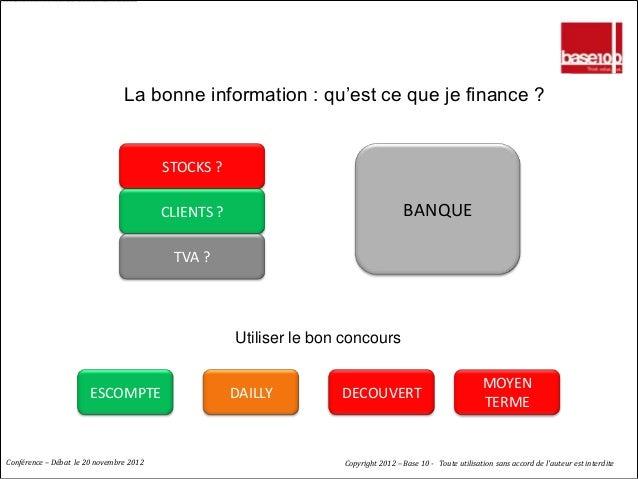 LE CREDIT : GENERER DE LA CONFIANCE                                La bonne information : qu'est ce que je finance ?      ...