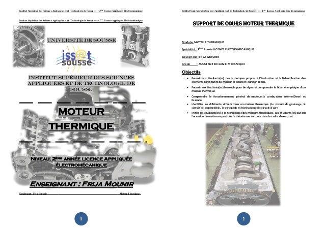 Institut Supérieur des Sciences Appliquées et de Technologie de Sousse-------2ème licence Appliquée Electromécanique   Ins...