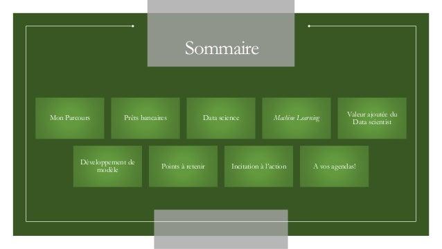 développer un modèle de Machine learning Slide 2
