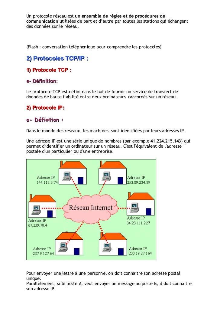 Un protocole réseau est un ensemble de règles et de procédures de communication utilisées de part et d'autre par toutes le...
