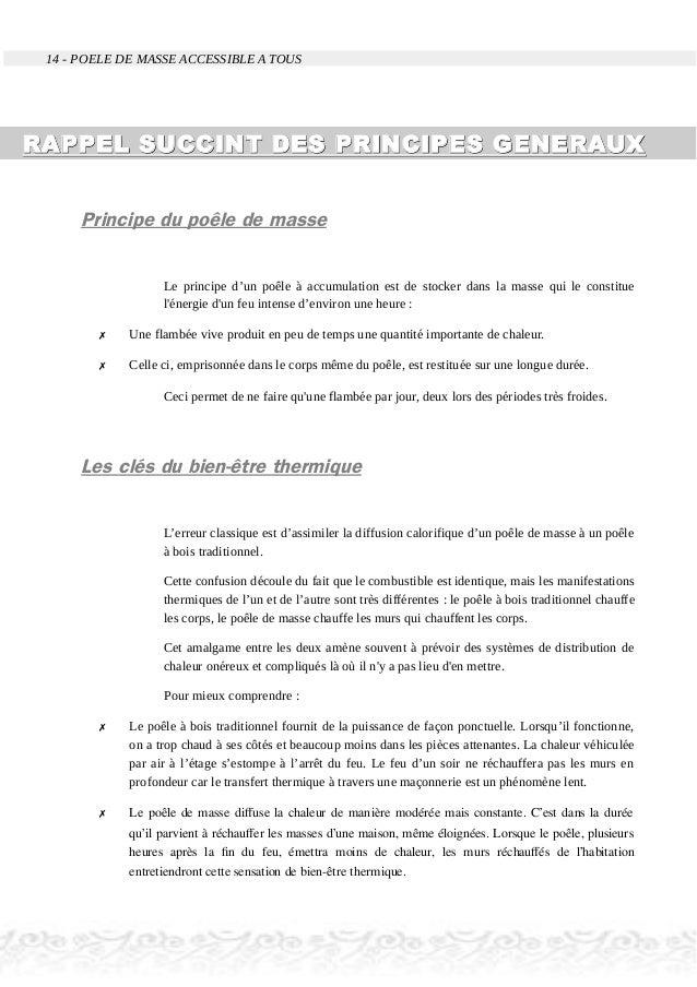 14 - POELE DE MASSE ACCESSIBLE A TOUS RAPPEL SUCCINT DES PRINCIPES GENERAUXRAPPEL SUCCINT DES PRINCIPES GENERAUX Principe ...