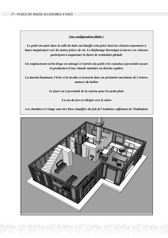 17 - POELE DE MASSE ACCESSIBLE A TOUS Une configuration idéale ! Le poêle encastré dans la salle de bain surchauffe cette ...