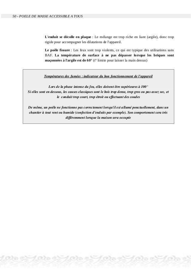 50 - POELE DE MASSE ACCESSIBLE A TOUS L'enduit se décolle en plaque : Le mélange est trop riche en liant (argile), donc tr...