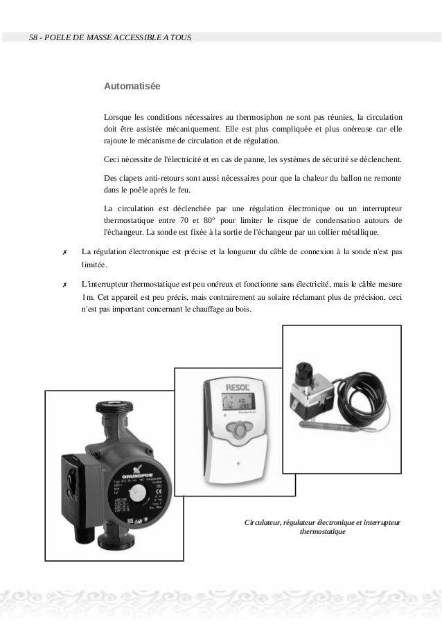 58 - POELE DE MASSE ACCESSIBLE A TOUS Automatisée Lorsque les conditions nécessaires au thermosiphon ne sont pas réunies, ...