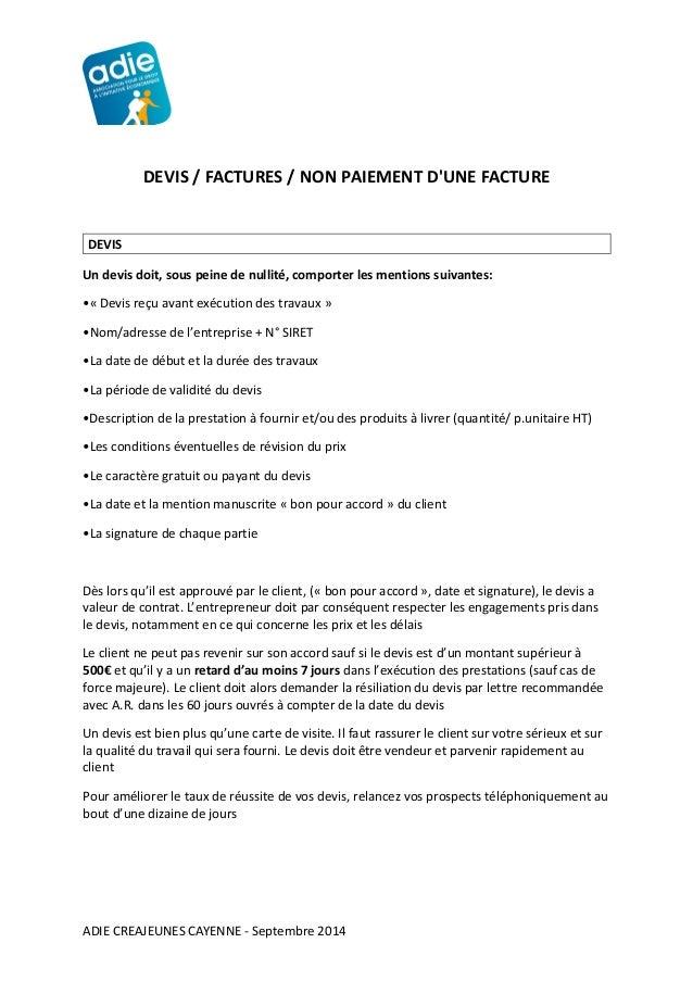 support devis factures adie. Black Bedroom Furniture Sets. Home Design Ideas