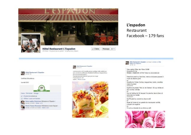 L'espadon Restaurant Facebook – 179 fans