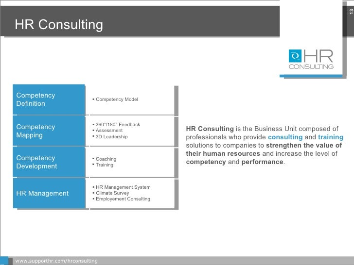 HR Consulting www.supporthr.com/hrconsulting HR Consulting  is the Business Unit composed of professionals who provide  co...