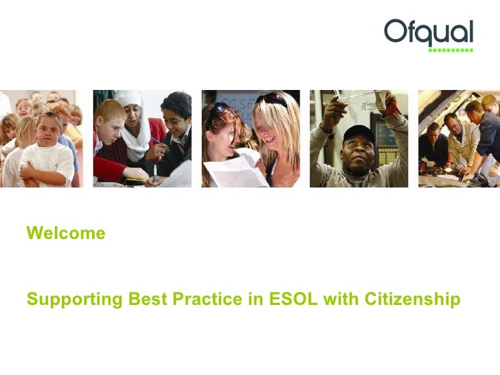 Supporting best practice in ESOL with citizenship