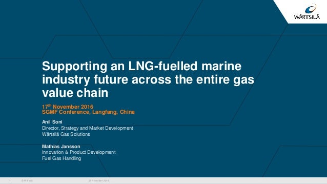© Wärtsilä Supporting an LNG-fuelled marine industry future across the entire gas value chain 17th November 2016 SGMF Conf...